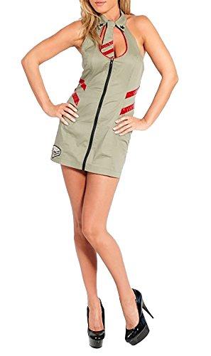 Rimi Hanger Womens Sexy Mayhem Costume Ladies Military Book Week Fancy Dress Retro Outfit Mayhem Costume Large ()
