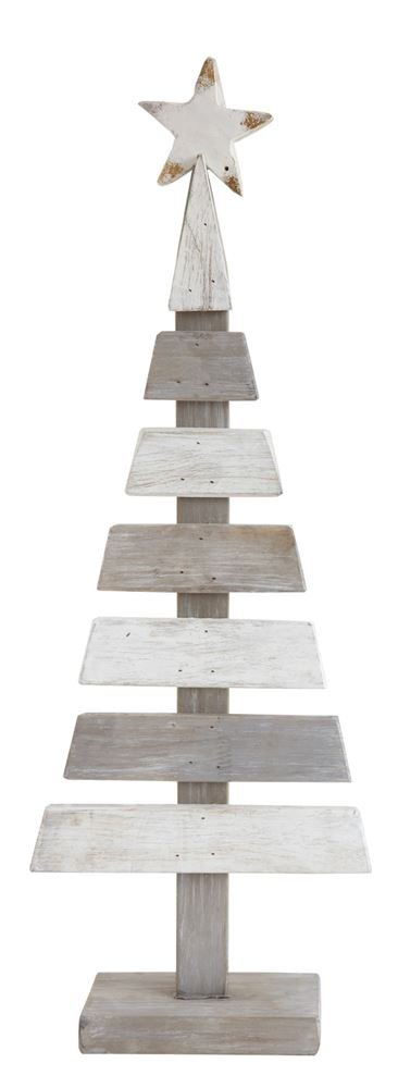 Heart of America Wood Slatted Tree With Star - 3 Pieces