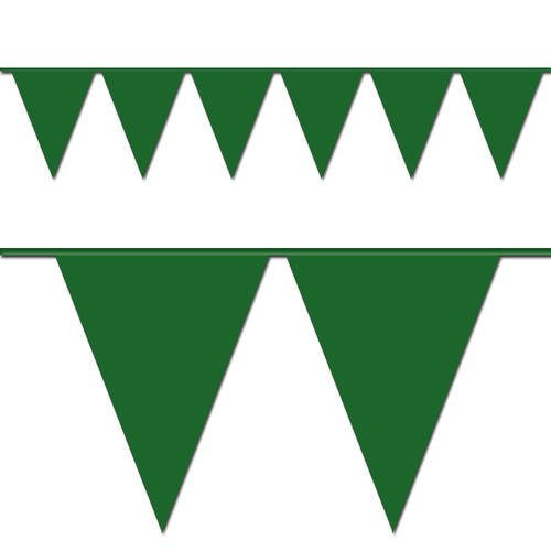 Ziggos Party Green Triangle Pennant Flag 100 Ft. -