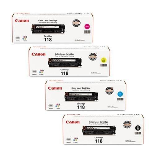 Canon 118 OEM Black and Color Toner Cartridge Set - 4 Pack