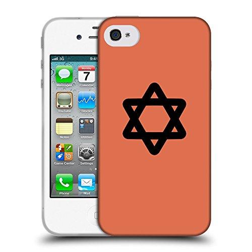 GoGoMobile Coque de Protection TPU Silicone Case pour // Q08470620 Religion 11 Sienne brûlée // Apple iPhone 4 4S 4G