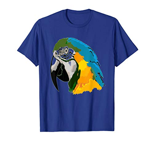 Bird Lovers Parrot T-Shirt Macaw Head Face Clothes