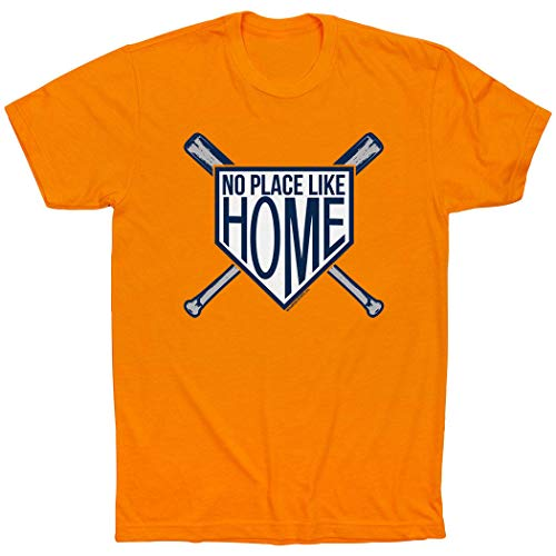 - ChalkTalkSPORTS No Place Like Home T-Shirt | Baseball Tees Orange | Adult X-Large