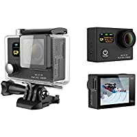 GoldFish G3 Dual Screen Sport Action Camera 2.0-inch LTPS LCD+0.95OLED Status Full HD 1080p 12MP WIFI 170°HD Wide-angle Waterproof Home&Car Security DH DV/DVR Black