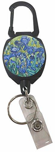 Buttonsmith Irises Sidekick Retractable Carabiner