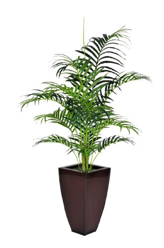 s Artificial Areca Palm in Zinc Planter, 5-Feet (Artificial Areca Palm Tree)