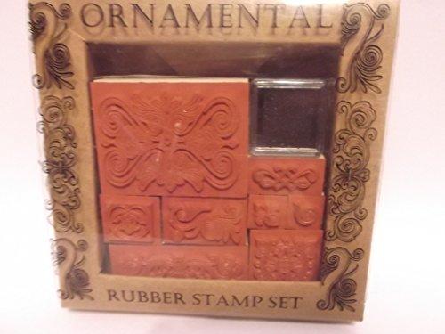 Ornamental Rubber Stamp Set