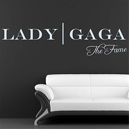 Wall Quotes Decal Wall Stickers Art Decor Lady gaga The Fame Living Room Bedroom