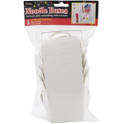 DARICE 1143-09 Noodle Boxes 8oz 5/Pkg-White