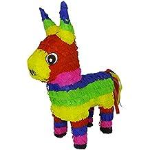 Aurabeam Original Classic Donkey Pinata (Rainbow Color) - Mexican Piñata - Handmade in Mexico