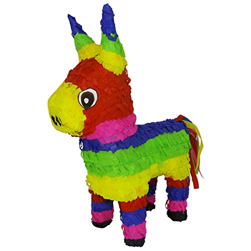 Original Classic Donkey Pinata (Rainbow Color) - Mexican Piñata - Handmade in Mexico for $<!--$29.99-->