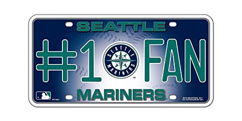 MLB Seattle Mariners #1 Fan Metal Tag - Seattle Mariners Hanging