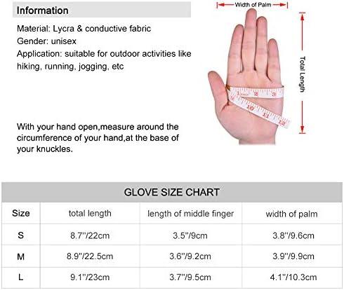 L VBIGER Gants Hiver Chaud de Sport /à /écran Tactile avec Impression R/éfl/échissante pour Homme Femme Noir