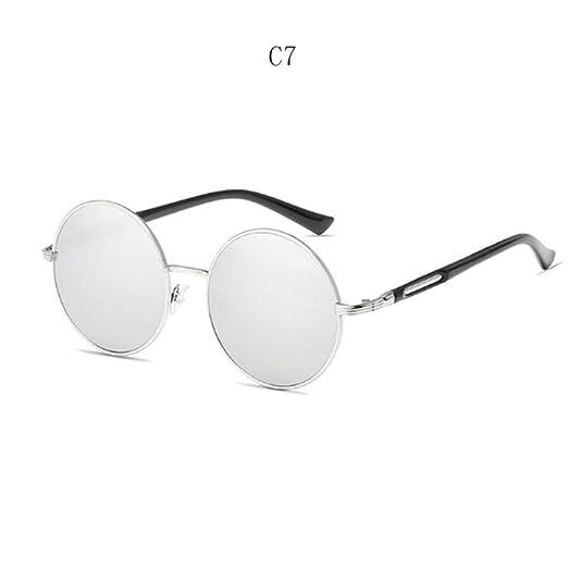 Yangjing-hl Gafas de Sol Redondas Vintage para Mujer Gafas ...