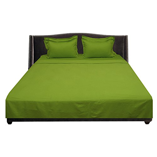 Full Sheet Refill (Floris Fashion Full 300TC 100% Egyptian Cotton Luxury Parrot Green Solid 6 Piece WaterBed Sheet Solid (Pocket Size: 27 inches) - Tailored Finish Super Comfy Easy Care Fabric)