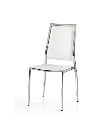 Sedie Moderne In Offerta.Lo Scrigno Arredamenti Set 4 Sedie Moderne In Metallo Sedia Cucina Sala Soggiorno W618 M