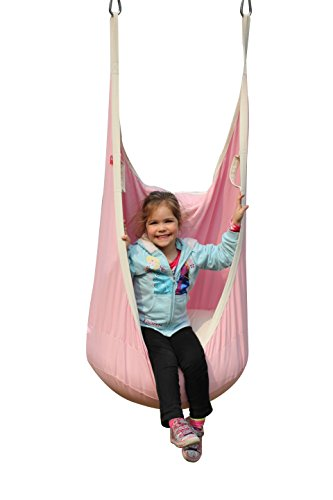 HappyPie Frog Folding Hanging Pod Swing Seat Indoor and Outdoor Hammock for Children to Adult (Pink)
