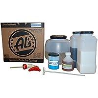 Al's Liner ALS-DARKBLUE Midnight Blue Premium DIY Polyurethane Spray-On Truck Bed Liner Kit, With FREE Adhesion Promoter…
