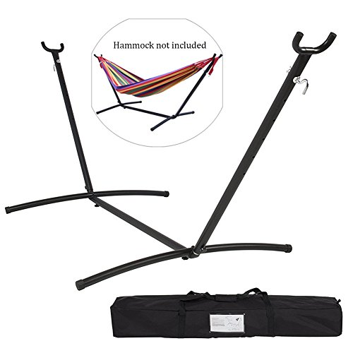 NOPTEG Steel Hammock Stand, Adjustable Hooks Fits Hammocks 9 to 11.5 Feet Long, 2 Person, Space Saving Portable with Carrying Bag by NOPTEG