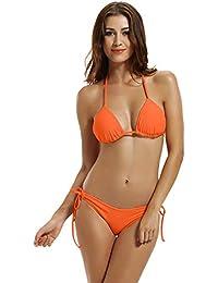 393c54600a78d Women s Tie Side Bottom Triangle Bikini Swimsuits