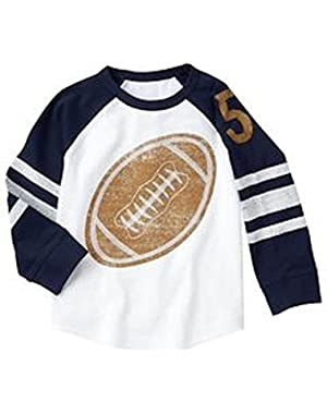 Baby Boy's Long Sleeve Football Tee 6-12 Months