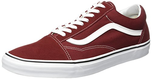 Vans Old Skool, Scarpe Running Unisex-Adulto Rosso (Madder Brown/True White)