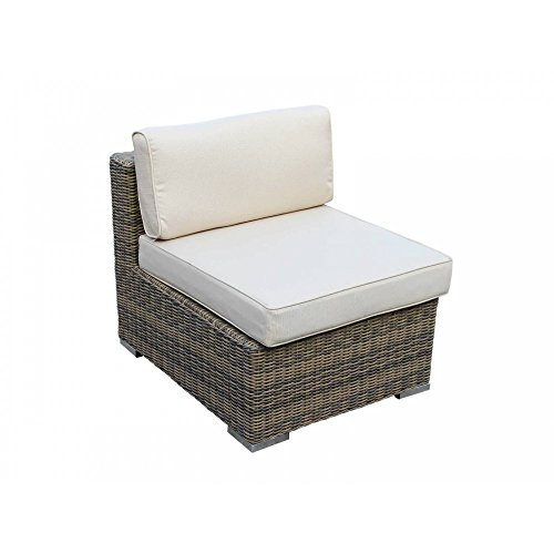 Weather Wicker Armless Sectional - Radeway Backyard Outdoor Patio Furniture Sets Wicker Rattan Sofa Modern Sectional Armless Chair