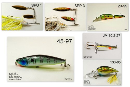 Akuna [WV] Pros' pick recommendation collection of lures for Bass, Panfish, Trout, Pike and Walleye fishing in West Virginia(Bass 6-A) (Best Trout Fishing In Wv)