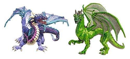 (Safari Ltd Cloud Dragon Bundled with Safari Ltd Forest Dragon)