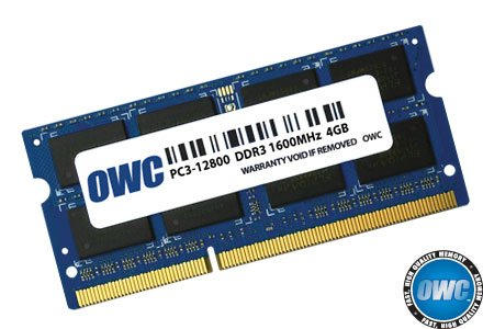 OWC PC12800 DDR3 1600MHz SO-DIMM 204 Pin RAM 4.0GB (1 x 4.0GB)