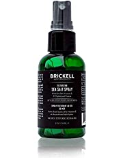 Brickell Men's Texturizing Sea Salt Spray for Men, Natural & Organic, Alcohol-Free, Lifts and Texturizes Hair for a Beach or Surfer Hair Style