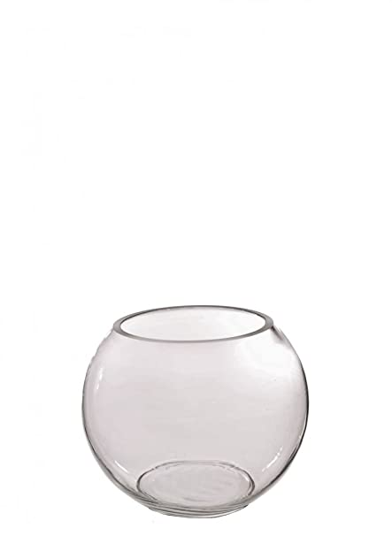 Clear Glass 10cm Fish Bowl Vase By Homestreet Table Wedding