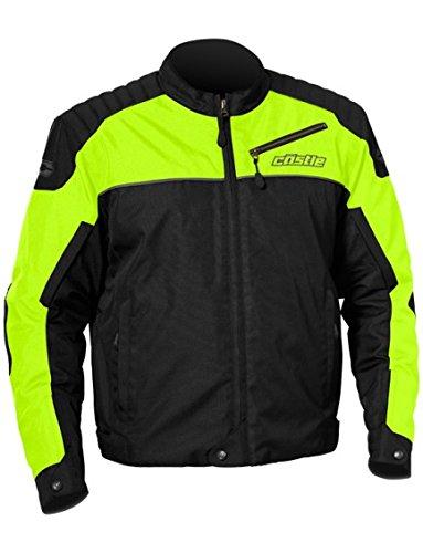 - Castle Classic Mens Motorcycle Jacket - Hi-Vis - XL