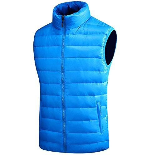 Autumn Vest Winter Waterproof Down Jacket Windproof Coat Down XFentech Outwear Blue Mens Thick amp; Zipper Sleeveless xvqzzOnw