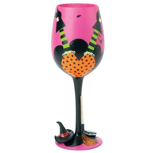 Santa Barbara Design Studio GLS11-5527C Lolita Love My Wine Hand Painted Glass, Wicked Witch -