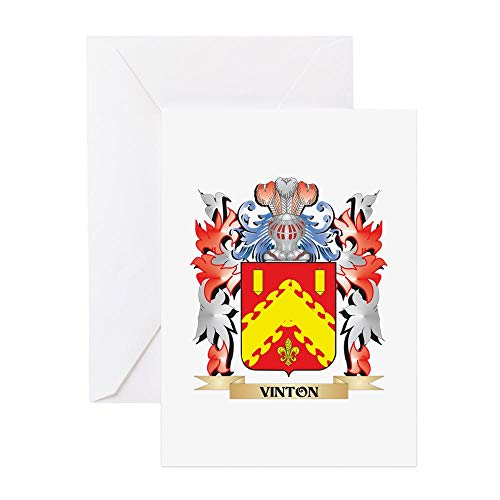 - CafePress Vinton Coat Of Arms Family Crest Greeting Cards Greeting Card, Note Card, Birthday Card, Blank Inside Glossy