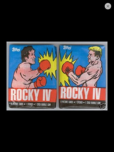 Rocky 4 1985 Lot (2) Wax Packs Topps Trading Cards Stickers Non-sport Retro ()