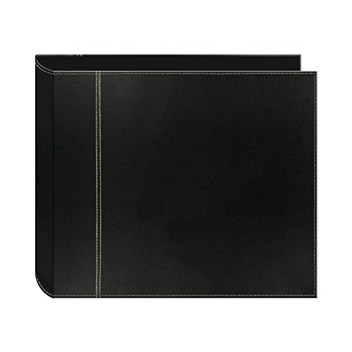 - Pioneer 12 Inch by 12 Inch 3-Ring 2-Tone Cover Scrapbook Binder, Black on Black