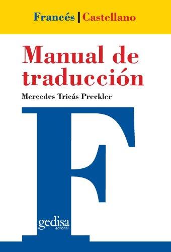 Descargar Libro Manual De Traducción Francés-castellano Mercedes Tricas Preckler