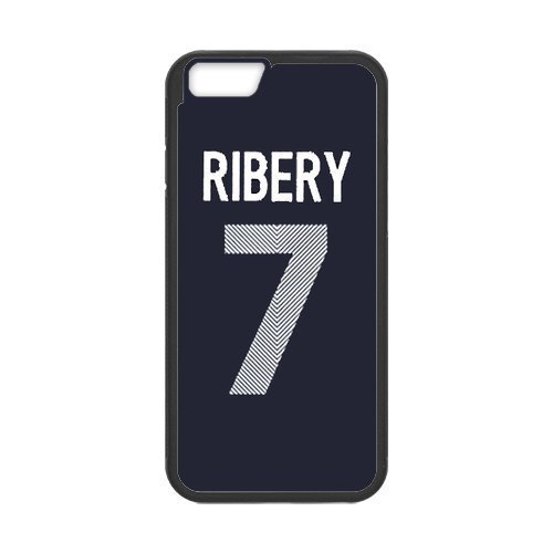 Artswow Franck Ribery 7 Custom Plastic TPU Cell Phone Case for iPhone 6 4.7 Inch