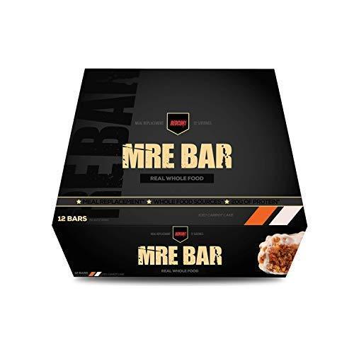 MRE Bar - Meal Replacement Bar (1 Box / 12 Bars) Iced Carrot Cake