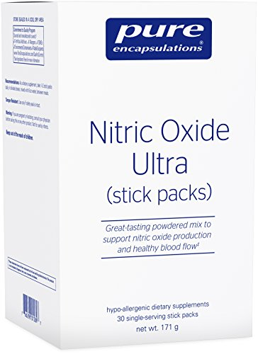 Pure Encapsulations - Nitric Oxide Ultra (Stick Packs) - Hypoallergenic Supplement Supports Nitric Oxide Production and Healthy Blood Flow* - 30 Packets