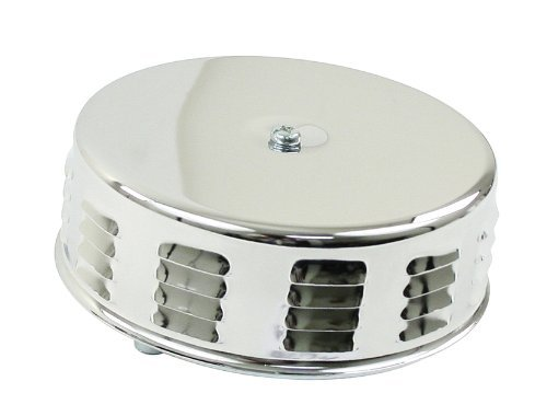 EMPI 8674 VW Bug 5-1/2 X 3 Tall, Chrome Louvered Air Cleaner for Stock VW Carb, 2 Neck, EA. by Empi