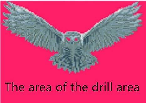6104 5D Diamant Peinture kit DIY Cristaux Diamant De Strass Peinture Collez-le Peinture par num/éro Kits point de croix Owl