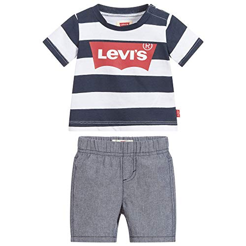 Levi's Kids Baby-Jungen Lvb Inside Out Tee W/Short Set 6ea896-u09-l5