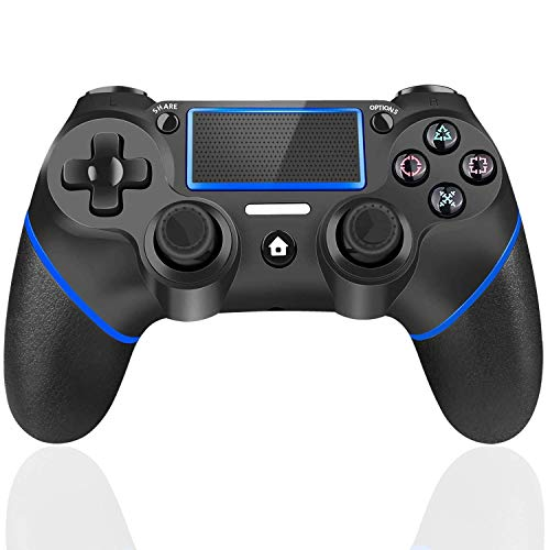 TUTUO Wireless Controller, Touch Panel Controller with Six-axis Dual Vibration Shock and Audio Jack, Bluetooth Gamepad…
