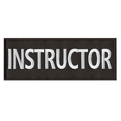 LEGEEON Instructor Large XL 10x4 inch Body Armor Tactical Embroidered Fastener Patch
