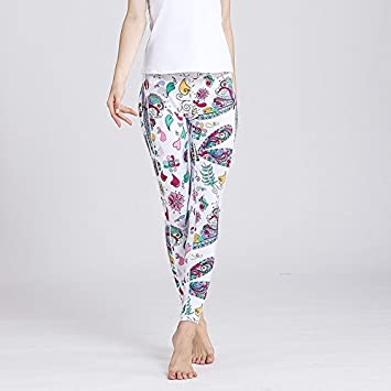 JIALELE Pantalon Yoga Feather Pantalones De Yoga De Secado ...