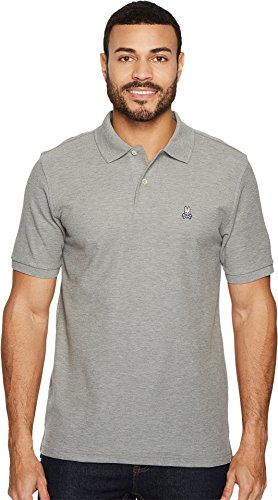 Luxury Pima Classic Knit Shirt (Psycho Bunny Men's Classic Polo Heather Grey X-Large)