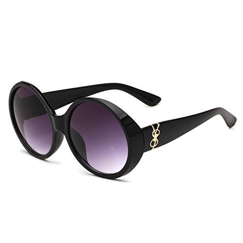 europeo para RDJM d y gafas Mirror de y sol de gran a estilo Frog mujer irregulares americano sol Trend de hombre Gafas marco rtqZAwWr